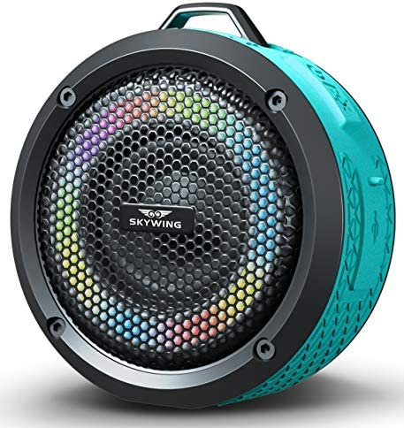 SKYWING Soundace S6 Small Portable Speaker IPX7 Waterproof Shower Bluetooth Speaker with LED product image