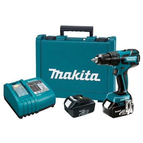 Makita LXPH05 18-Volt LXT Lithium-Ion Brushless 1/2-Inch Hammer Driver-Drill Kit -