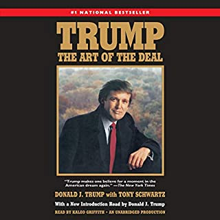 Trump: The Art of the Deal                   Auteur(s):                                                                                                                                 Donald J. Trump,                                                                                        Tony Schwartz                               Narrateur(s):                                                                                                                                 Kaleo Griffith,                                                                                        Donald J. Trump                      Durée: 9 h et 59 min     89 évaluations     Au global 4,4