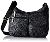 Baggallini Everywhere Crossbody Bag -Lightweight, Water-Resistant Travel Purse With Multiple Pockets and RFID-Protected Wristlet