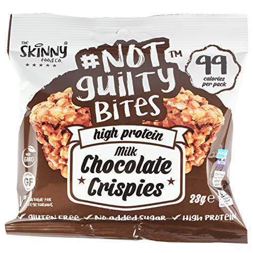 Skinny Foods Not Guilty High Protein Snack Chocolate Crispies (Milk Chocolate Crispies, 10 x 23g Packs)