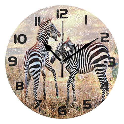 orologio da parete zebrato Orologio da Parete Zebra Africana Orologio Silenzioso Senza ticchettio per Camera da Letto Soggiorno Home Office Decor