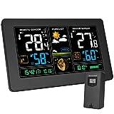 Kalawen Stazione Meteo Automatica Digitale Wireless Meteorologica con Ampio Schermo LCD Display...