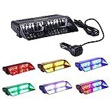 Anzene 86 LED Parabrisas LED de Alta Intensidad Aplicacin de la Ley Advertencia de Peligro de Emergencia Luces estroboscpicas Se Adapta a Carro Comercial Barco de BarcoColorido