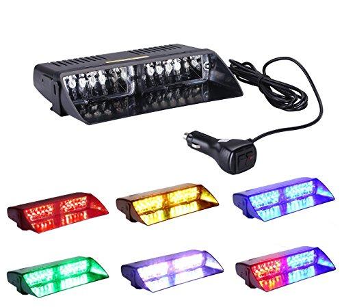 TASWK 点滅 8パターン 12V車用 LED ストロボ フラッシュ ライト シガー ソケット付け/LED警告灯カスタムLED...