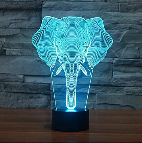 Elefante 3D Led Night Light Touch Animal Lámpara De Mesa Baby Kid Sleeping Mood Lampe