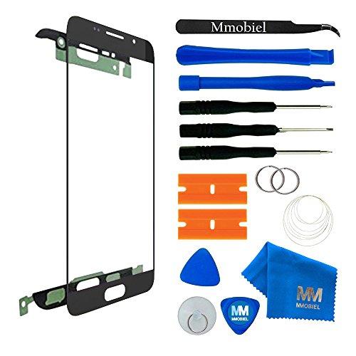 MMOBIEL Front Glas Reparatur Set kompatibel mit Samsung Galaxy A3 A310 (2016) Series (Schwarz) Display mit Werkzeug-Set