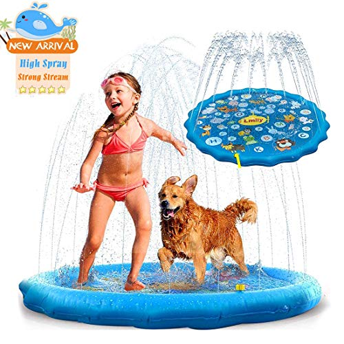 """Sprinkler for Kids Outdoor, 60"""" Splash Mat Water Toys for Toddler, Gardens Pool Outside Backyards Games Summer Spray Column Fun Water Games Best Gifts for Age 1-8 Years Old Boys and Girls."""