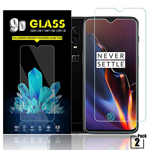 Price comparison product image Oneplus 6T Screen Protector by YEYEBF,  [2 Pack] Tempered Glass Screen Protector for Oneplus 6T [3D Touch][Anti-Scratch][Anti-Glare][HD-Clear][Bubble-Free]