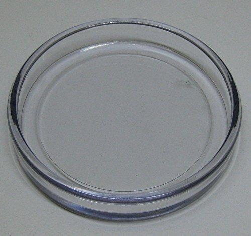 3 Stück Untersetzer für Klavier Flügel Möbel aus Kunststoff transparent außen:86 mm Ø