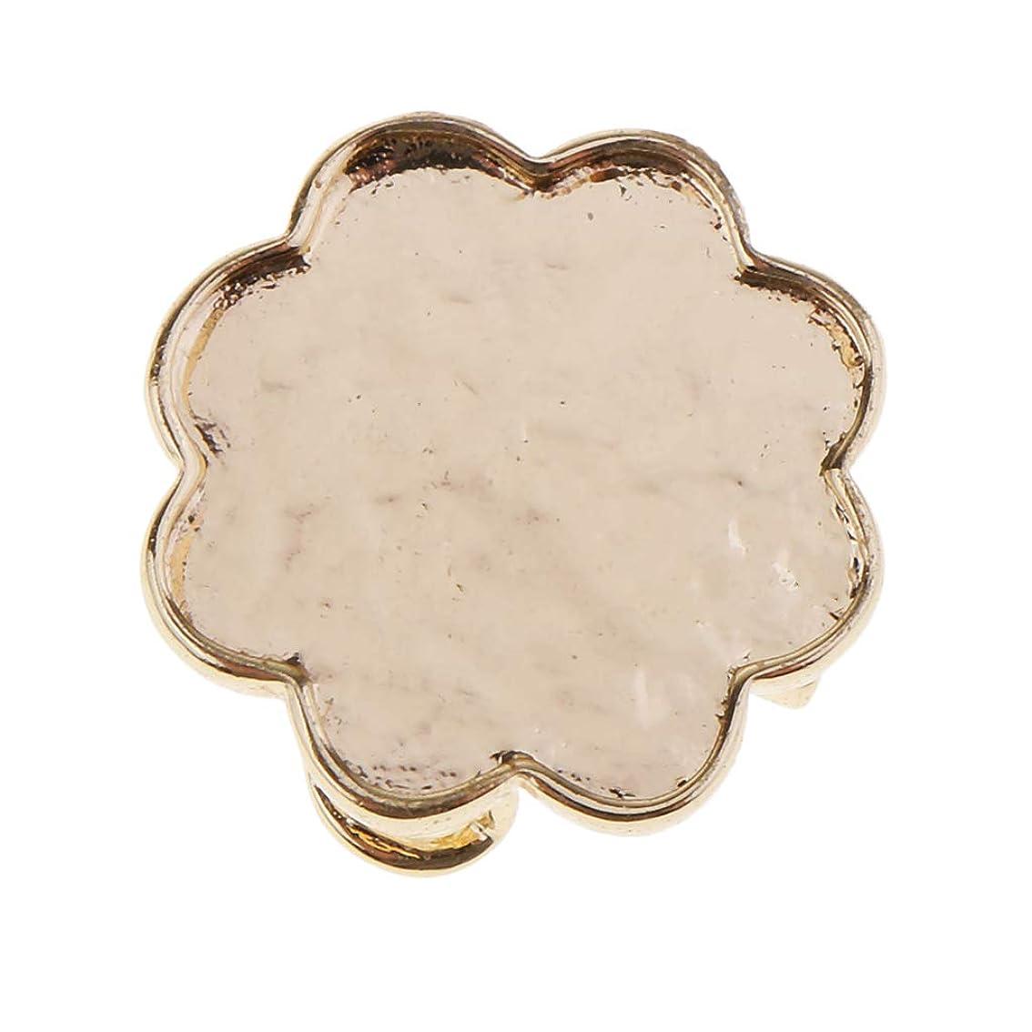 弁護有毒な添加剤ブローチ台 真鍮製 プラムの花形 安全ピン 手芸 DIY 安全ピン 宝石用 ビーズ用 工作 台座