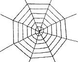 Sunstar Black Tinsel Spider Web
