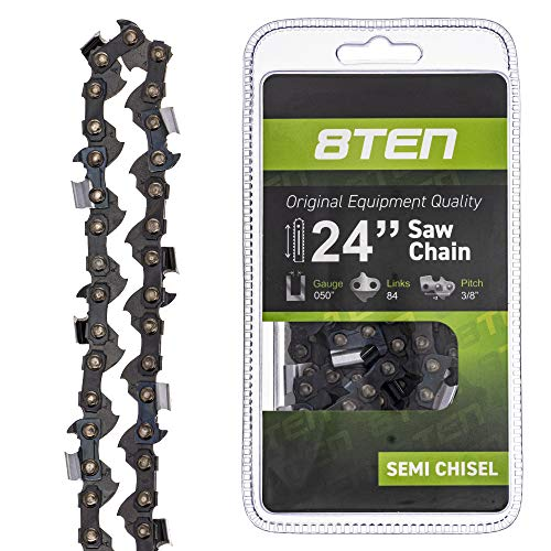 8TEN Chainsaw Guide Bar and Chain for Stihl MS 029 046 270 290 310 440 461 3003 000 8830 24 inch .050 .375 84DL
