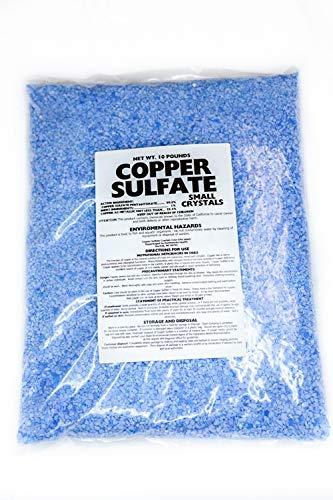 Copper Sulfate Small Crystals 10lb Bag 99% Pure