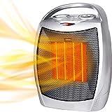 calefactor electrico Calentador de cerámica 75 0W / 1500W, Calefacción silenciosa para de interior al aire libre del ventilador eléctrico portátil calentador con termostato ajustable y protección cont