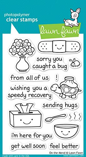 Lawn Fawn Clear Stamps - On The Mend (LF351)