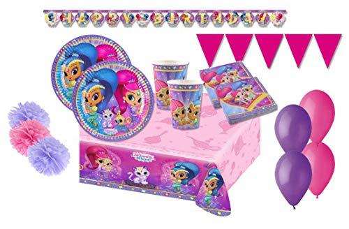Decorata Party Kit 46 F Fiesta de cumpleaños Shimmer & Shine
