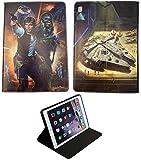 Funda inteligente para iPad 9.7/Pro/iPad Air 1-2 Star Wars Han Solo Chewbacca Death Star