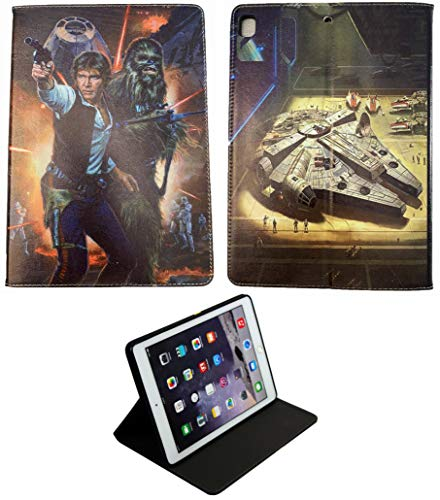 For iPad 9.7 / Pro/iPad Air 1-2 Star Wars Han Solo Chewbacca Death Star New Smart Case Cover +