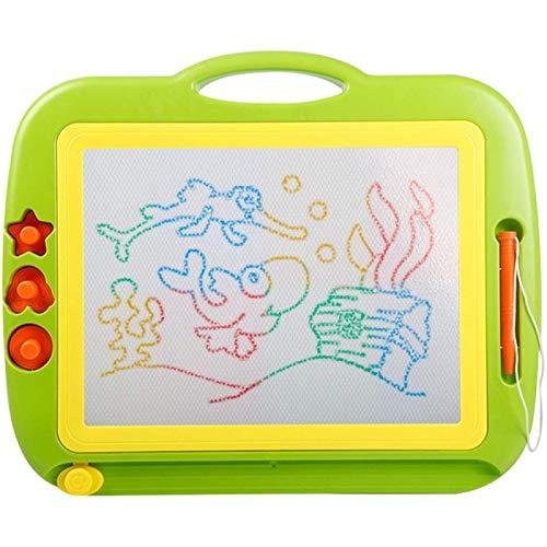 ZHANG Tablero de Dibujo Magnético Borrable Doodle Dibujo Tablero de Escritura Aprendizaje Educativo Juguete Reutilizable, para Niños Pequeños de 3 años o Más,Green