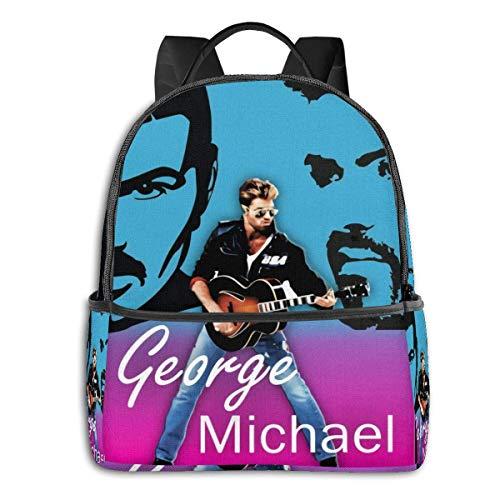 LongDD George Michael University School Large Capacity Backpack Computer Bag Unisex Suitable Hiking Variety Outdoor Sports