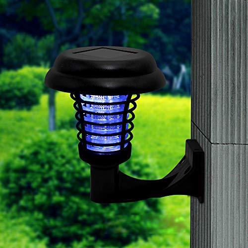 AIMCAE Lampe Anti-Moustique Tueur UV extérieur de Jardin de Tueur de Moustique de la lumière UV Solaire de Moustique LED