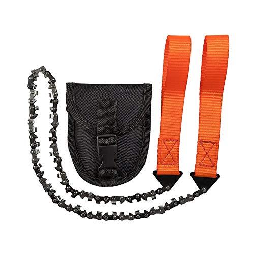 Baoblaze Premium väska motorsåg, överlevnad handsåg med förvaring, handhållen tråd såg med bred handrem för camping, jakt, trimning – orange