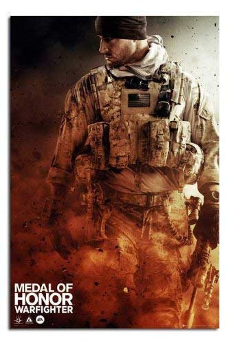 Medal Of Honour Warfighter Walking Plakat Satin Matt Laminiert - 91.5x 61cm (36 X 24 Inches)