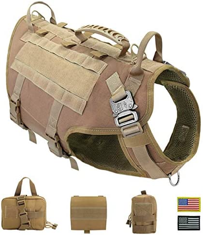 PET ARTIST Tactical Dog Harness for Hiking Training No Pull Vest Harness for Medium Large Dogs product image