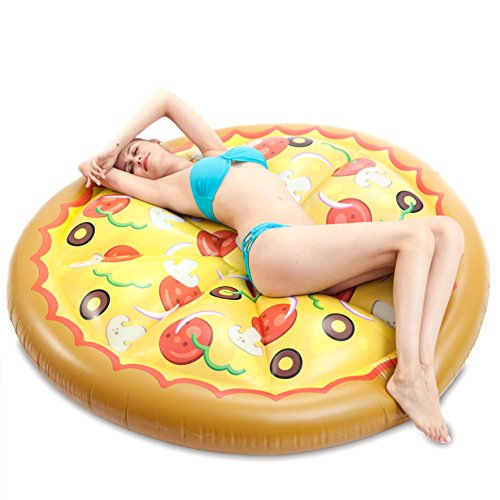 JOYIN Giant Inflatable Round Pizza Pool Float, Fun Beach Floaties, Swim Party...