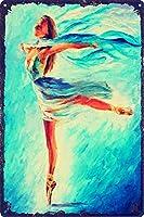ヴィンテージメタルブリキ看板壁アート絵画振り付けの女の子 バーパブクラブサーフショップの装飾のためのプレートポスタープラーク