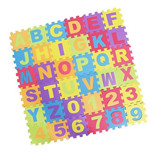 F Fityle 36pcs Niños Puzzle Letter Mat Necesidad Especial Juguetes Aprender
