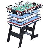 Multifunción 4 en 1 juego estable mesa de futbolín, mesa de hockey para niños, mesa de billar, ping pong con todos los accesorios (120 x 60 x 82 cm)