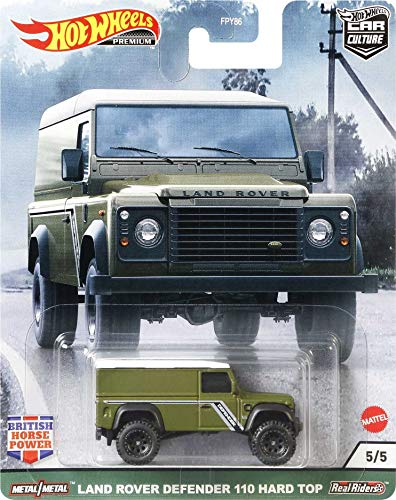 Hot Wheels Car Culture Circuit Legends Land Rover Defender 110 Panel Vehicle for 3 Kids Years Old