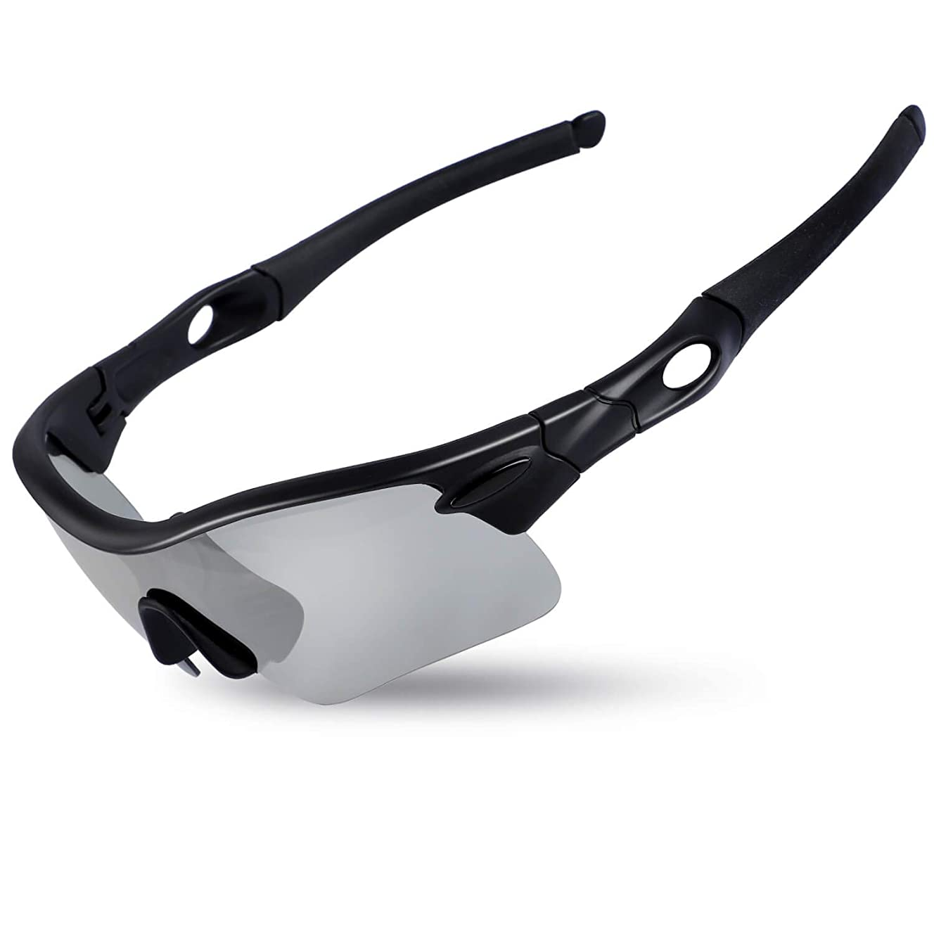 ICOCOPRO Polarized Sports Sunglasses Men & Women UV 400 Protection Sunglasses for Cycling Fishing Golf Hiking Unbreakable Superlight Frame - 4 Colors