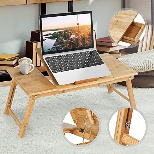 MIADOMODO®–Tavolino da Letto Grande, in bambù, per...