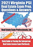 Image of 2021 Virginia PSI Real Estate Exam Prep Questions and Answers: Study Guide to Passing the Salesperson Real Estate License Exam Effortlessly