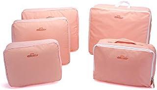 5-piece Travel Bag Organizer Set - Pink