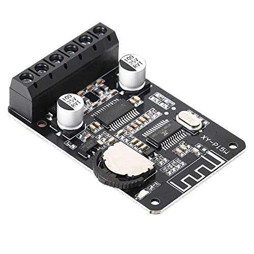 PEMENOL Bluetooth Leistung Verstärkerplatine Stereo, 10W 15W 20W Wireless Digital Audio-Verstärkerplatine, 12V 24V Doppelkanal Hochleistungs-Bluetooth-Verstärker-Empfangsmodul