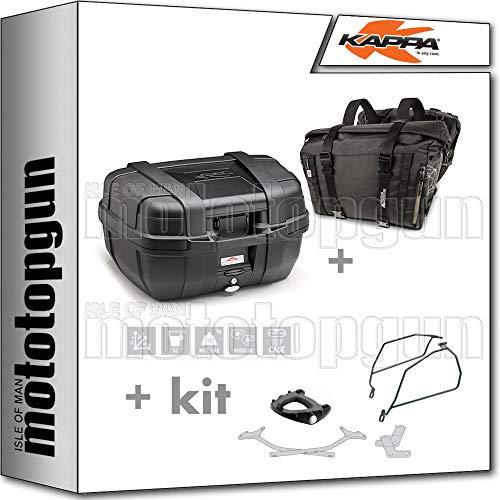 kappa maleta kgr52n + alforjas laterales ra316bk + portaequipaje monokey + soporte alforjas compatible con honda nc 750 x 2020 20