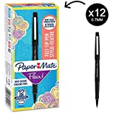 Papermate Flair Original FTP M Black (Box of 12) ペン (並行輸入品)