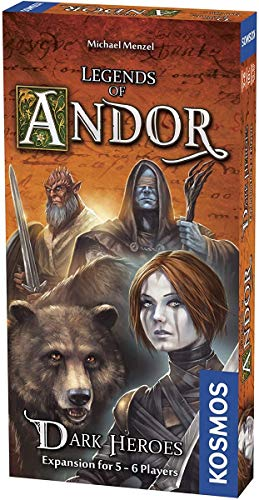 Thames & Kosmos | 692841 | Legends of Andor: Dark Heroes (Erweiterung) | Kompatibel mit Teil 1 & 3 | Kooperatives Brettspiel | 2-6 Spieler | Alter 10+ |