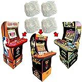 Alvatron Set of 4 Arcade Joystick Circle Restrictor Gates for Arcade1up, Legends Ultimate Arcade, Pandora's Box, JLF Sanwa GT-Y, TMNT Teenage Mutant Ninja Turtles, NBA JAM, Golden Axe, Burgertime