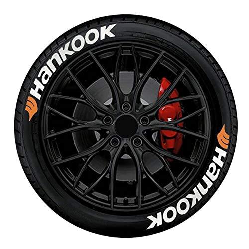 NZ Pegatinas para Neumáticos De Coche, Hankoo Automobile English 3D Stereo Alphabet Pegatinas para Neumáticos, 8 Pegatinas Impermeables para Neumáticos, 3,5 cm (1,4 Pulgadas) de Altura