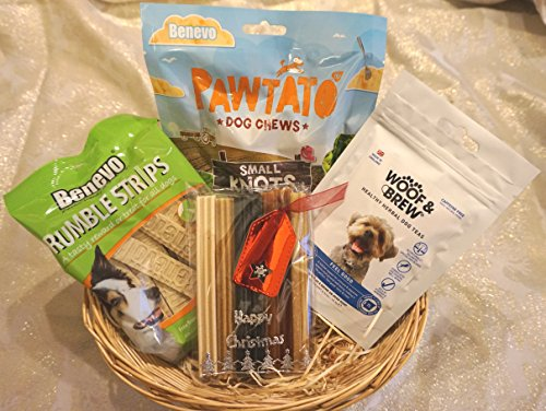 VEGAN VEGETARIAN VEGGIE CHRISTMAS DOG TREAT HAMPER HEALTHY GIFT WRAPPED TREATS