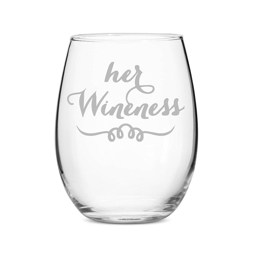 涙が出る聖書ロッカーHer Wineness Stemless 620ml Wine Glass - 4 PCS