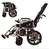 AA100 Fully lying lightweight folding electric wheelchair elderly automatic aluminum alloy four-wheeled scooter