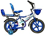 Norman Jr Double Seat Bicycle 14 Inch Fully Adjustable with Back Seat & Support for Boys and Girls 2...