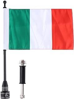 Motorcycle Italy Flag Pole Mount Custom Rack Luggage Flag for Harley
