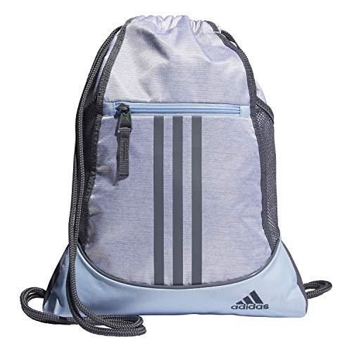 adidas Unisex Alliance II Sackpack, White Jersey/Glow Blue/Onix, ONE SIZE